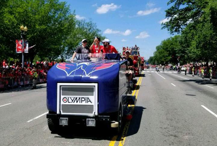 Olympia in Washington Capitals Parade